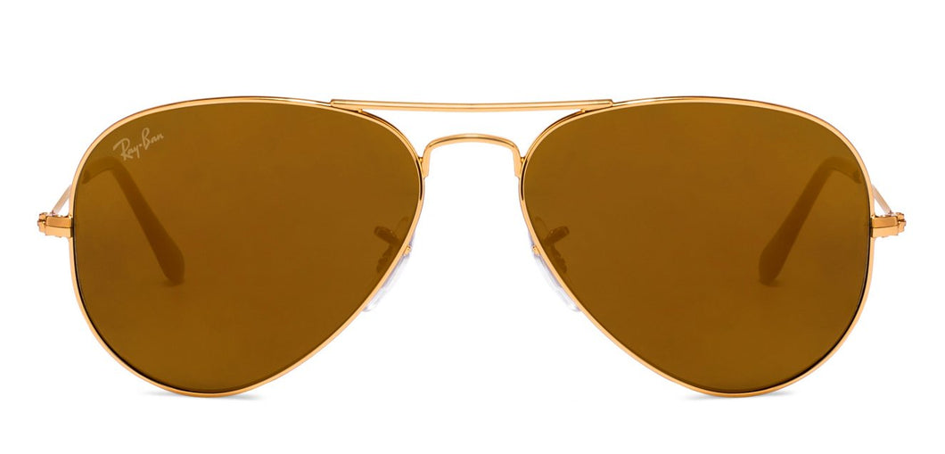 Ray-Ban RB3025 Large (Size-58) Golden Mirror Unisex Sunglasses