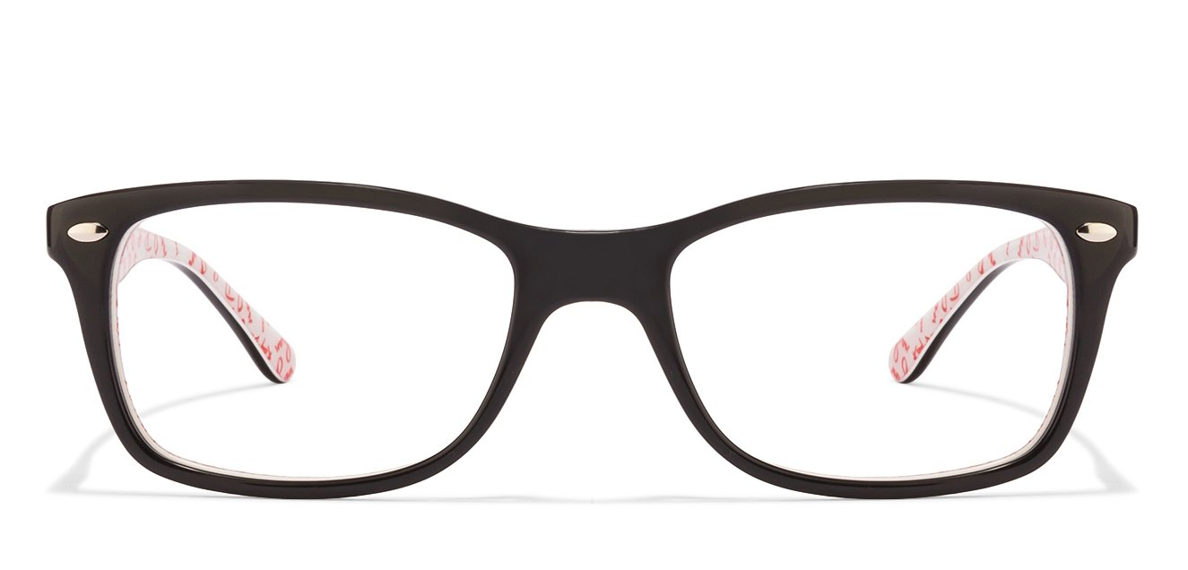 Ray-Ban 0Rx5228 Medium (Size-53) Black 5014 Unisex Eyeglasses