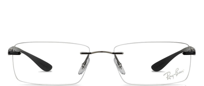 Ray-Ban RX8724 Medium (Size-54) Gunmetal Black 1128 Unisex Eyeglasses