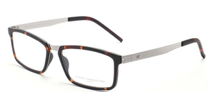 FC-8063-C3 Havana Brown Rectangle Eyeglasses