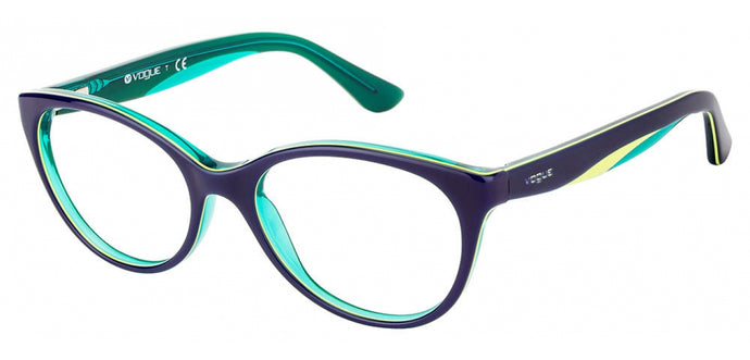 Vogue VO2962 Medium (Size-51) Blue Green Yellow Line Women Eyeglasses