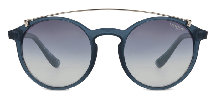 Vogue VO5161 Medium (Size-51) Gunmetal Blue Transparent Blue Transparent Silver Mirror 25347B Women Sunglasses