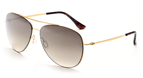 French Connection FC-7193-C1 Golden Aviator Sunglasses