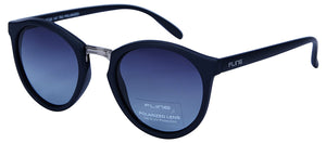 Fling Polarized Round Unisex Sunglasses - (S012_F3|49 mm|Blue Lens)
