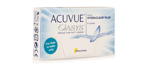ACUVUE OASYS with HYDRACLEAR Plus Johnson & Johnson Contact Lens- Only Minus Power (6 Lens per Box)