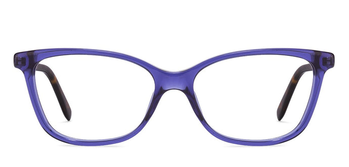 Carrera CA6646 Medium (Size-52) Blue Transparent Tortoise Transparent QLN Women Eyeglasses
