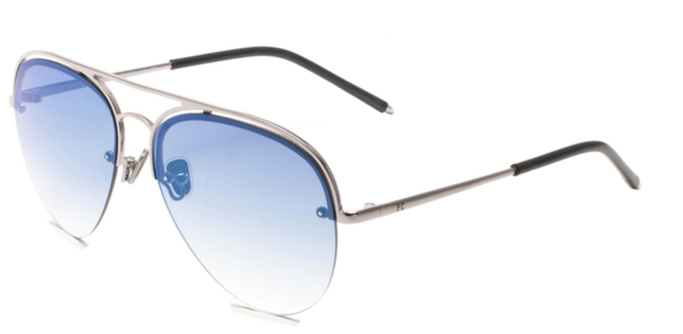 French Connection FC-7400-C3 Gunmetal Aviator Sunglasses