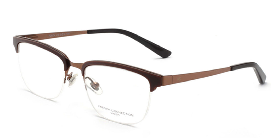 French Connection FC-8074-C3 Matte Brown Rectangle Eyeglasses