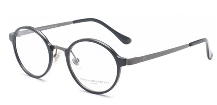 French Connection FC-8062-C1 Black Round Eyeglasses
