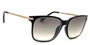 IDEE S2313-C1 Black Golden Frame With Light Green Mirror Unisex Rectangle Sunglasses