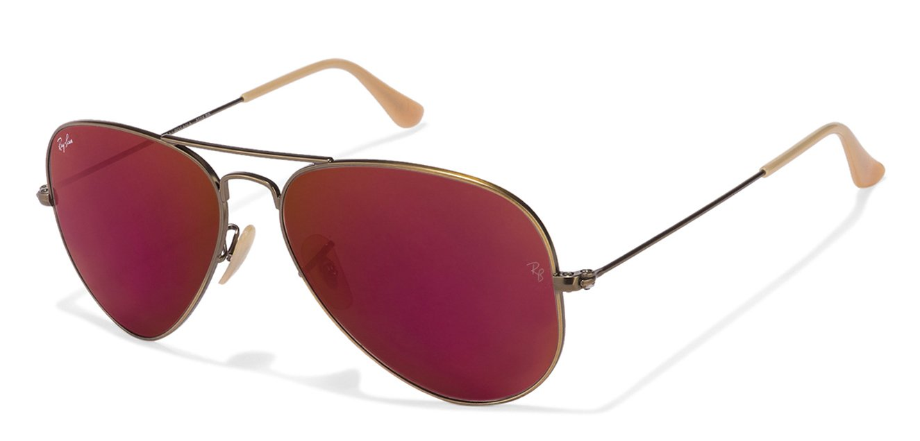 Ray-Ban 0RB3025 Large (Size-58) Pink Mirror Unisex Sunglasses