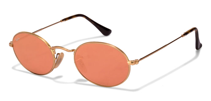 Ray-Ban RB3547 Small (Size-48) Golden Pink Mirror 001/Z2 Unisex Sunglasses