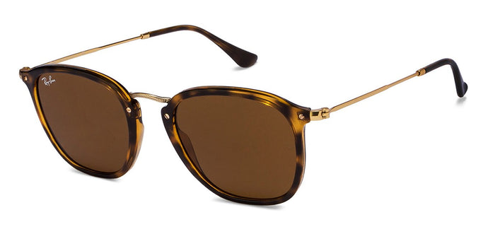 Ray-Ban RB2448 Medium (Size-51) Golden Tortoise Brown 710 Unisex Sunglasses