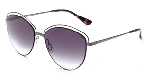 French Connection FC-7133-C2 Gunmetal Cat-Eye Sunglasses