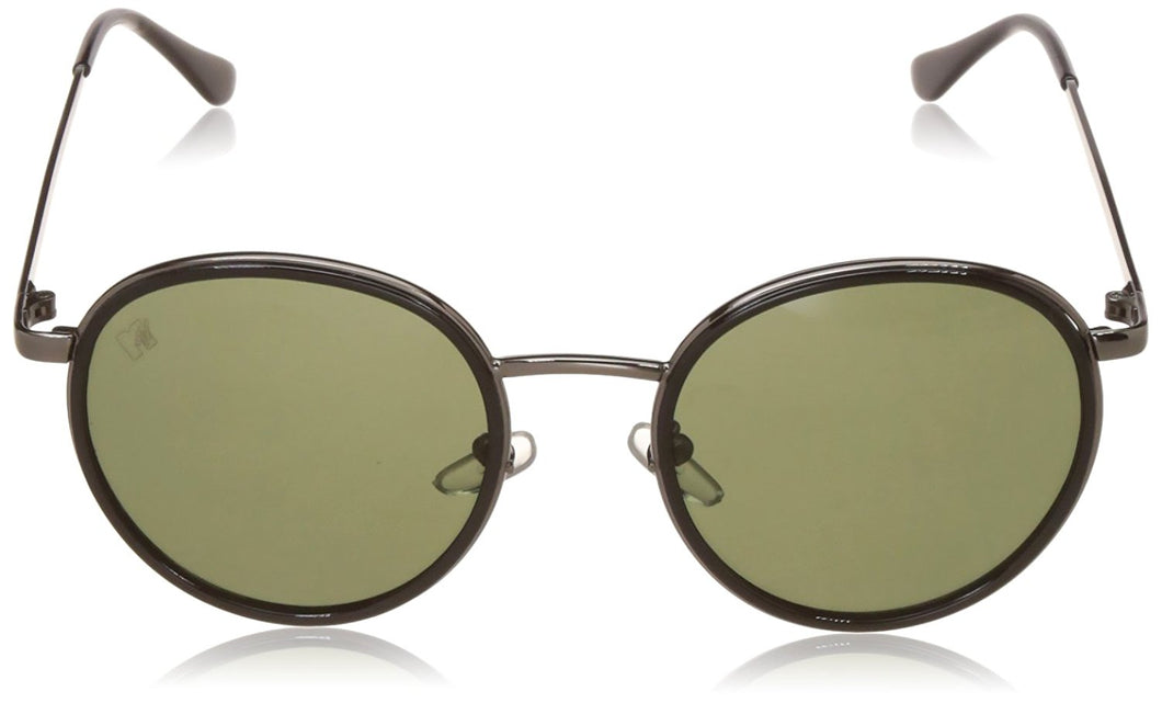 MTV UV Protected Round Unisex Sunglasses - (MTV-137-C4|52|Green Color)