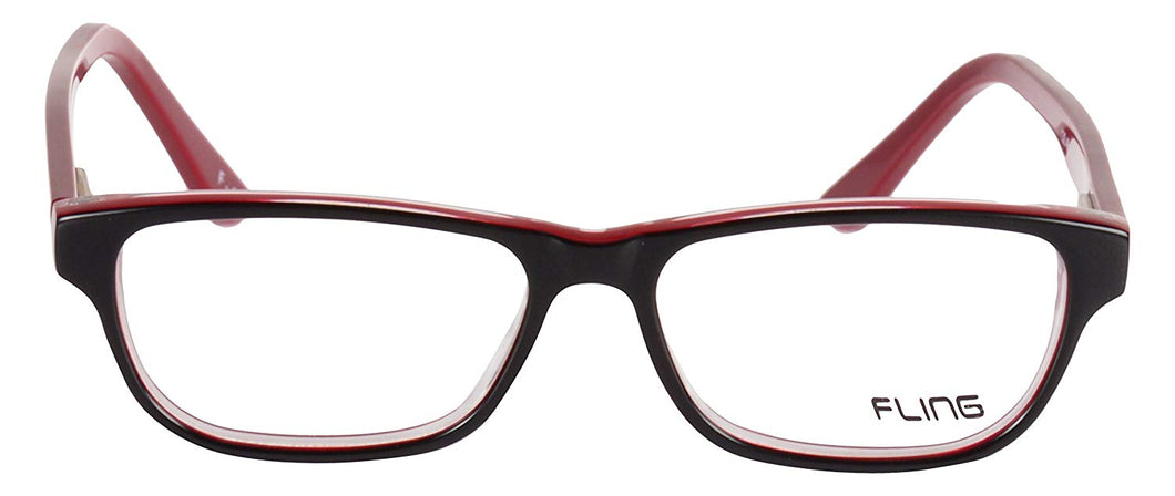 Fling Rimmed Rectangular Unisex Kids Eyeglasses - 130_F4|52 mm