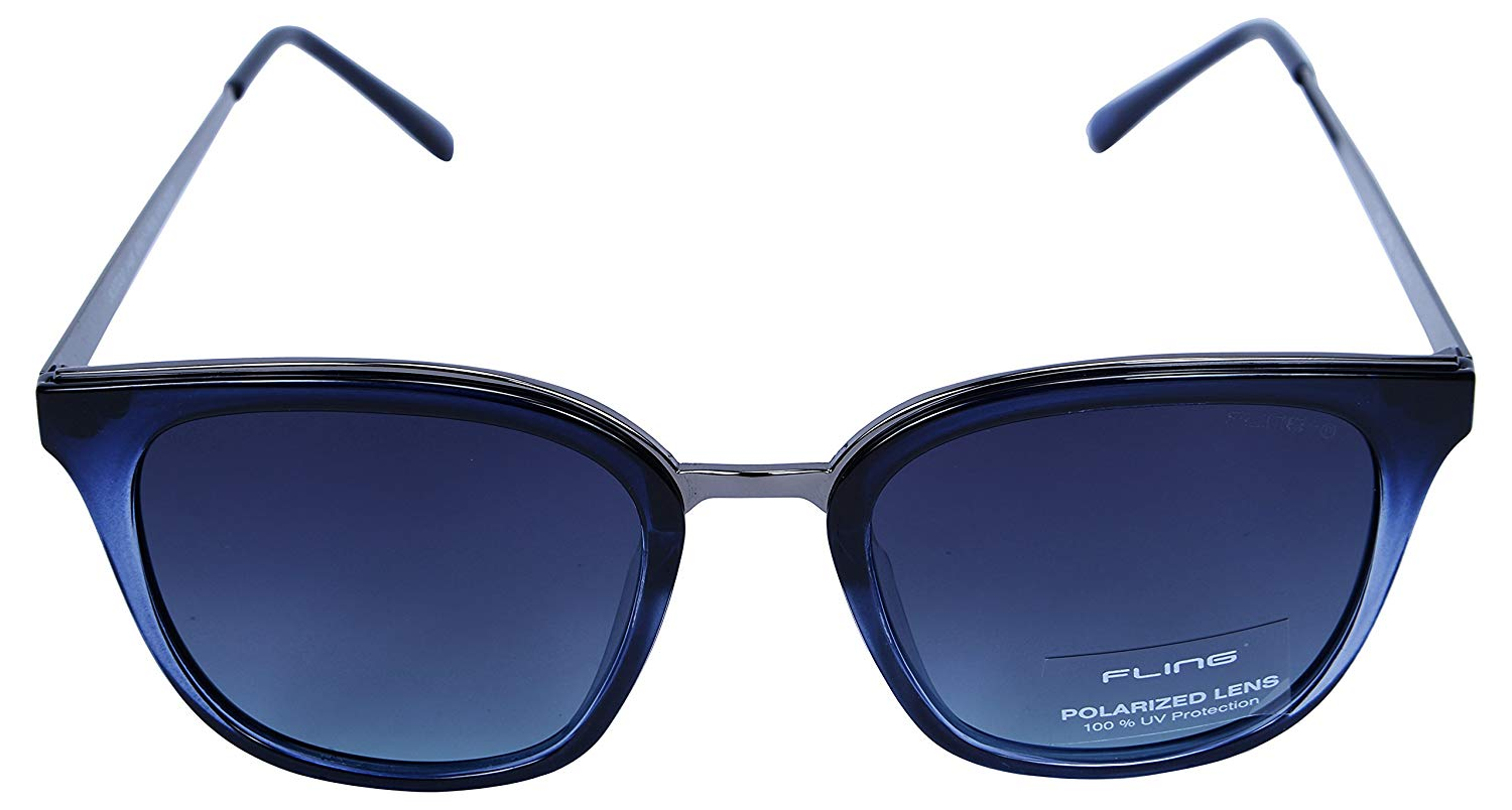 Fling Polarized Butterfly Women's Sunglasses - (S005_F4|52 mm|Blue Lens)