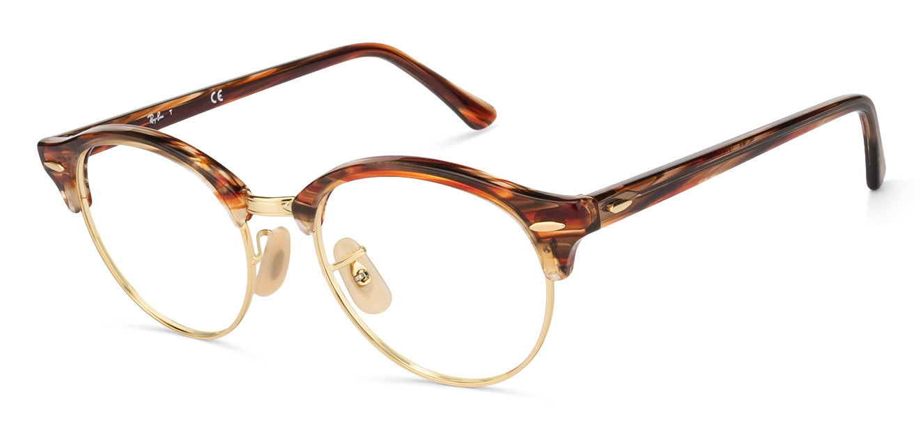 Ray-Ban RX4246 Small (Size-49) Golden Brown Tortoise 5751 Unisex Eyeglasses