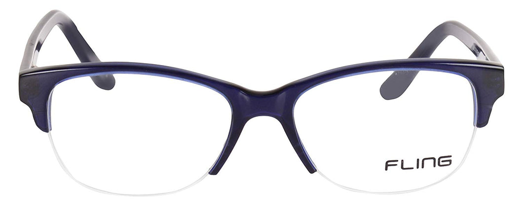 Fling Semi-Rimless Cateye Women's Eyeglasses - 129_F3|52 mm