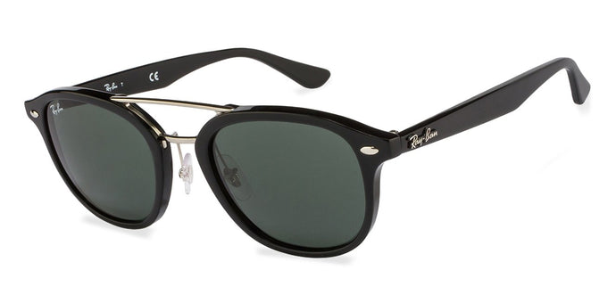 Ray-Ban RB2183 Medium (Size-53) Black Golden Green Women Sunglasses