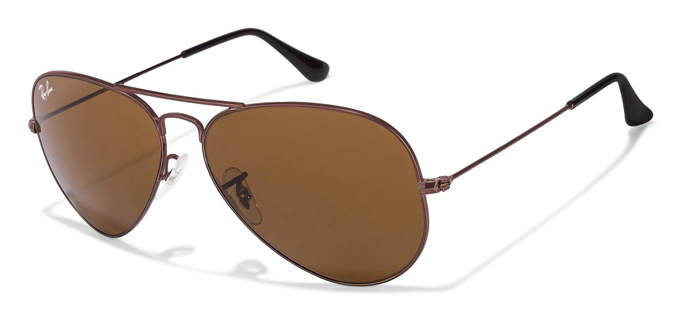Ray-Ban RB3025 Large (Size-58) Cooper Brown R1072 Unisex Sunglasses
