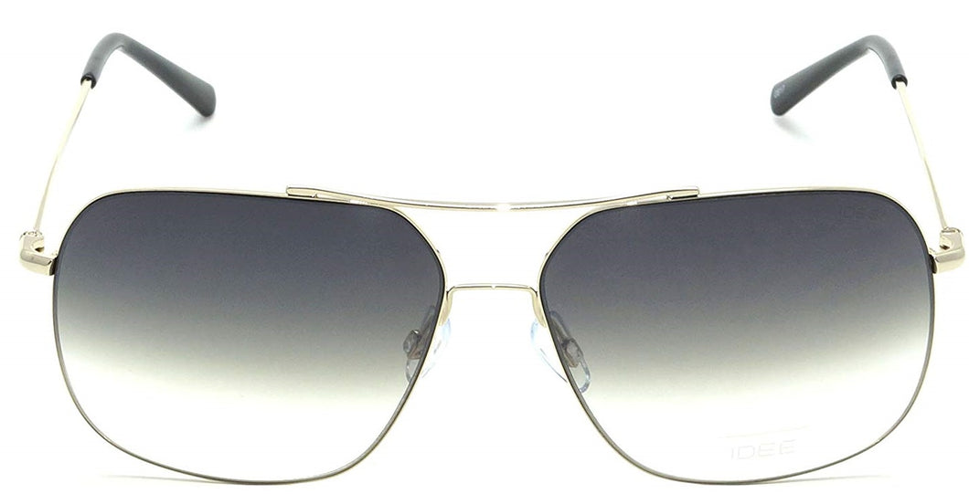 IDEE S2325-C1 Golden Frame With Green Mirror Unisex Rectangle Sunglasses