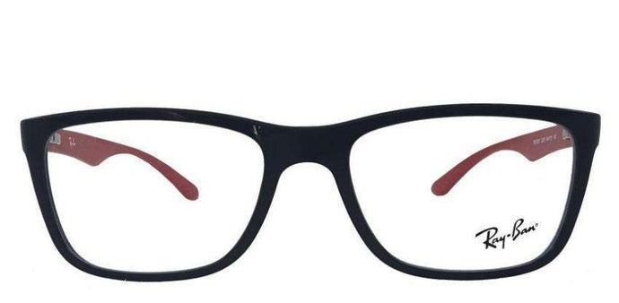 Ray-Ban Rx7027 Medium (Size-54) Black Red 2475 Unisex Eyeglasses