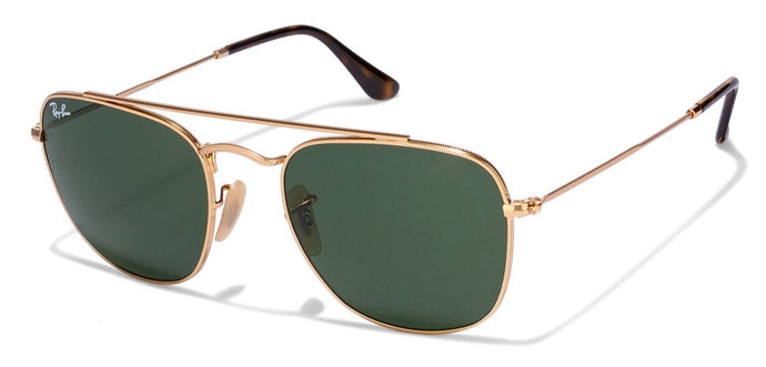 Ray-Ban RB3557 Medium (Size-54) Golden Green Unisex Sunglasses