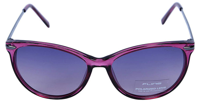 Fling Polarized Cateye Women's Sunglasses - (S006_F4|54 mm|Purple Lens)