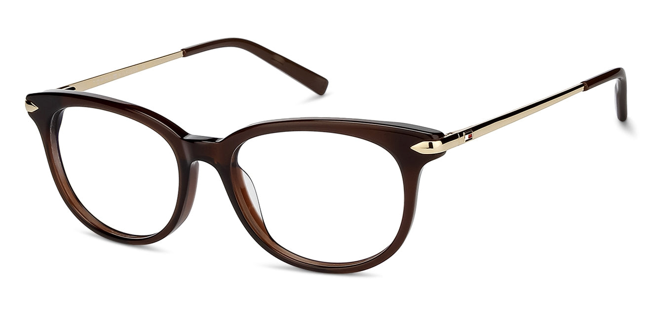 Tommy Hilfiger TH6150 Medium (Size-52) Brown Golden C3 Women Eyeglasses