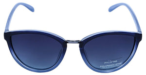 Fling Polarized Cateye Women's Sunglasses - (S004_F4|56 mm|Blue Lens)