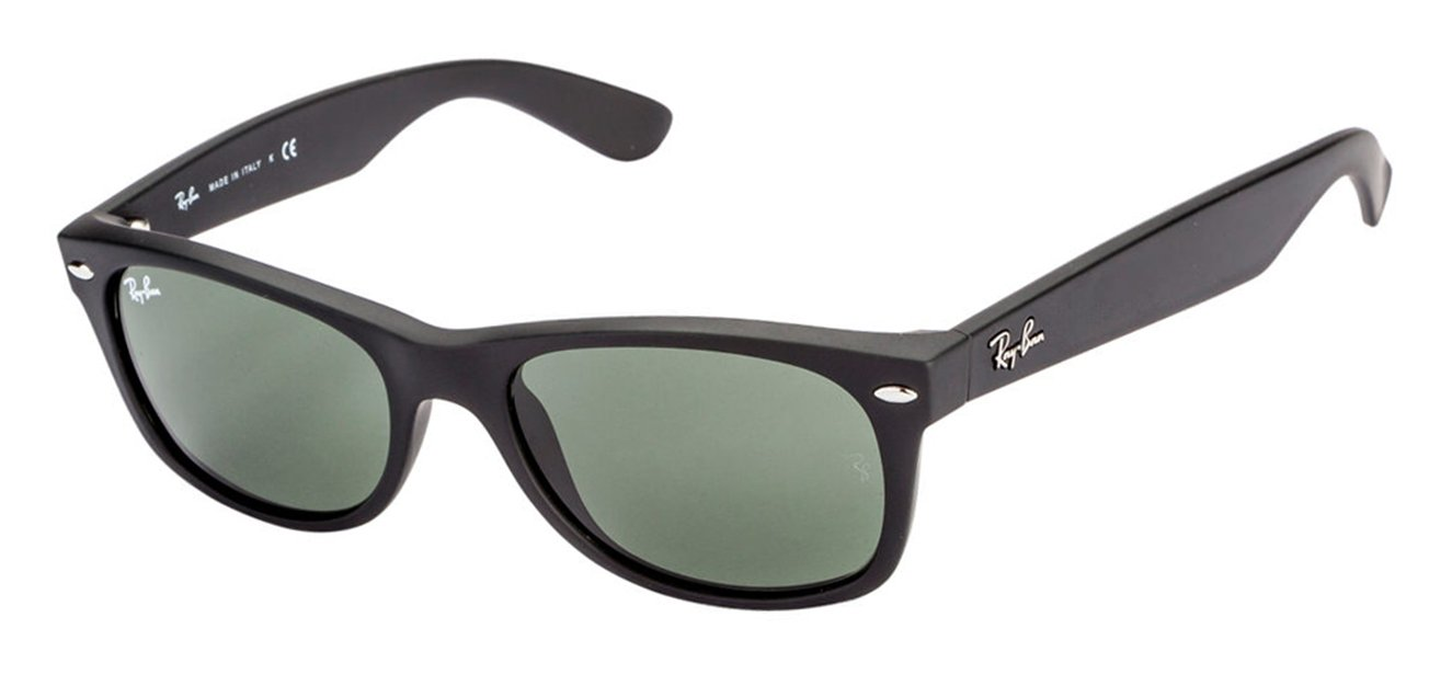 Ray-Ban RB2132 Small (Size-52) Matte Black Green Gradient Unisex Sunglasses