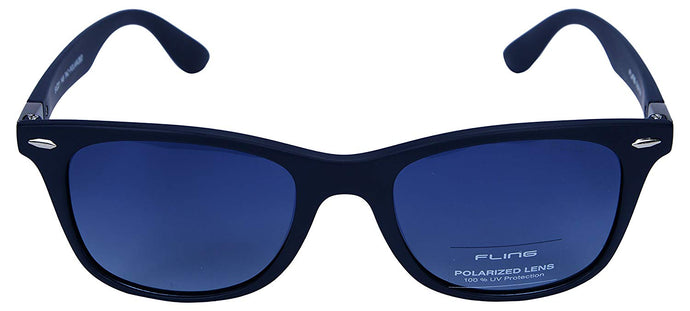 Fling Polarized Wayfarer Unisex Sunglasses - (S001_F4|51 mm|Blue Lens)