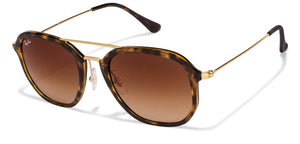 d5a914dca53 Ray-Ban RB4273 Medium (Size-52) Golden Tortoise Brown Gradient 710 85  Unisex Sunglasses