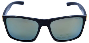Fling Polarized Rectangular Men's Sunglasses - (S010_F1|56 mm|Green Lens)