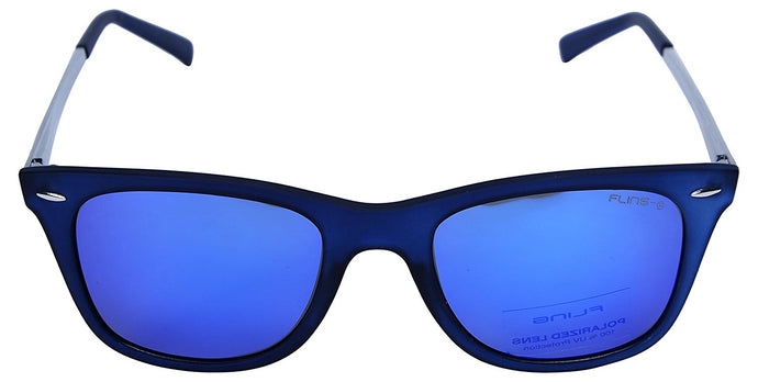 Fling Polarized Wayfarer Unisex Sunglasses - (S003_F4|49 mm|Blue Lens)