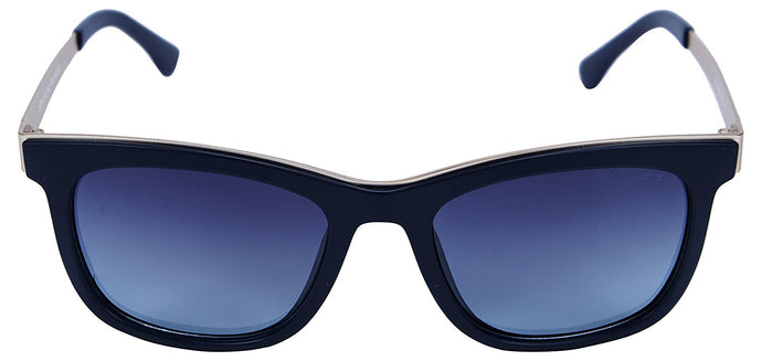Fling Polarized Square Unisex Sunglasses - (S017_F4|54 mm|Blue Lens)