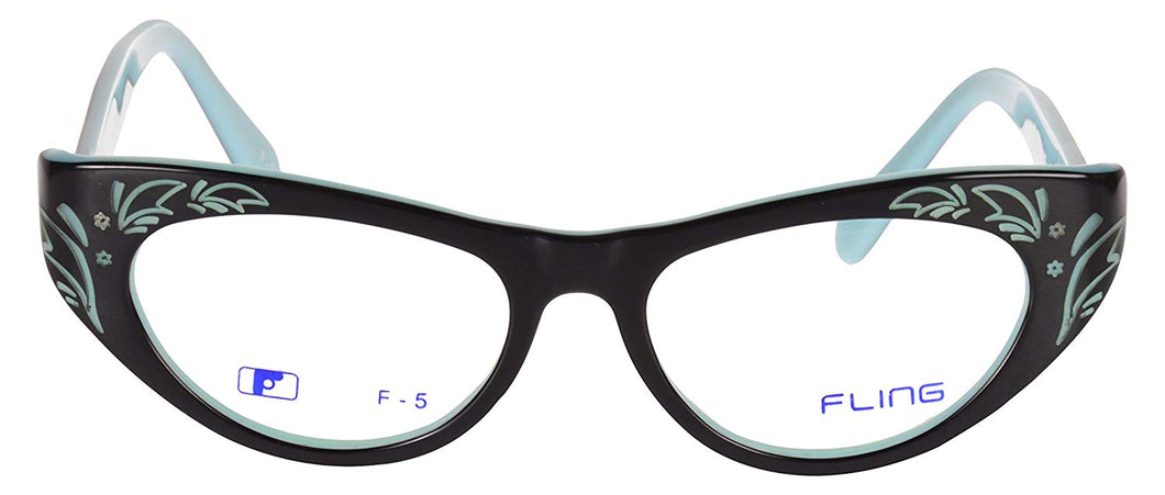 Fling Rimmed Cateye Girls Eyeglasses- 119_F5|53 mm