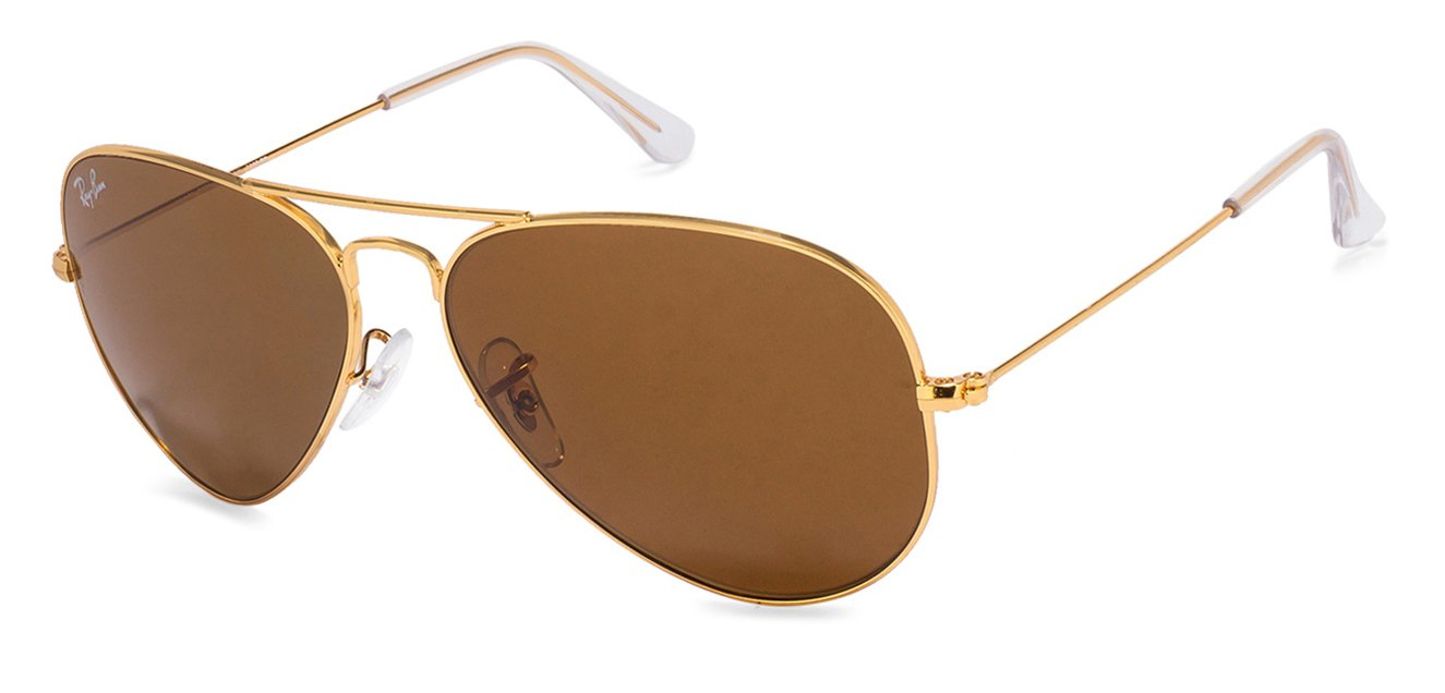 Ray-Ban RB3025-58 Medium (Size-58) Golden Brown Men Sunglasses