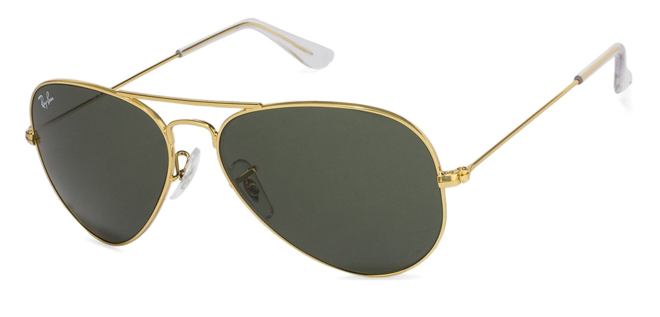 Ray-Ban RB3025-55 Small (Size-55) Golden Green Unisex Sunglasses