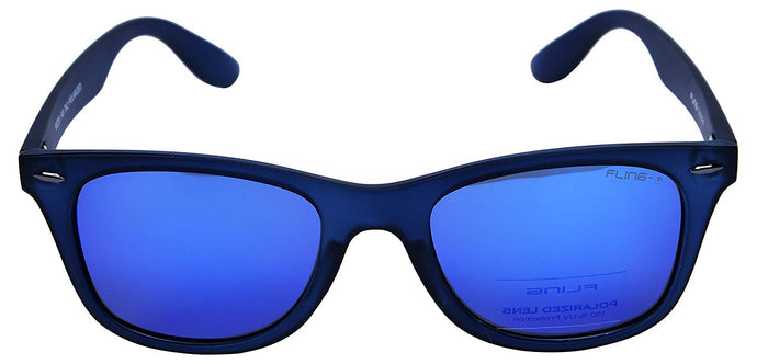 Fling Polarized Wayfarer Unisex Sunglasses - (S002_F4|50 mm|Blue Lens)