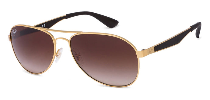 Ray-Ban RB3549 Large (Size-58) Golden Brown Gradient 112/13 Unisex Sunglasses