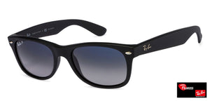 Ray-Ban RB2132 Small (Size-52) Matte Black Blue Gradient Unisex Polarized Sunglasses