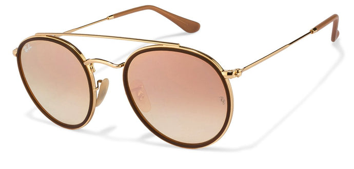 Ray-Ban RB3647 Medium (Size-51) Golden Brown Mirror Unisex Sunglasses