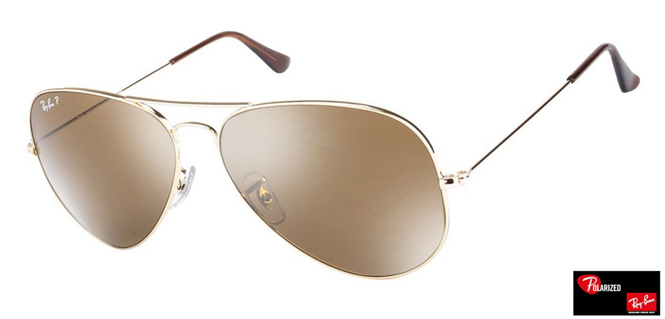 Ray-Ban RB3025 Large (Size-62) Golden Brown Mirror Unisex Polarized Sunglasses