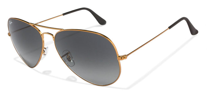 Ray-Ban RB3026 Large (Size-62) Golden Grey Gradient Unisex Sunglasses