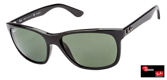 Ray-Ban RB4181 Medium (Size-57) Black Unisex Polarized Sunglasses