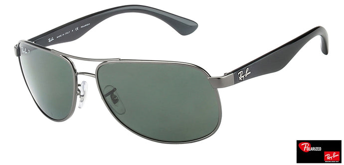 Ray-Ban 0RB3502 Large (Size-61) Gunmetal Green Unisex Polarized Sunglasses