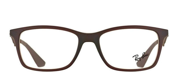 Ray-Ban Rx7047 Medium (Size-54) Brown 5451 Unisex Eyeglasses
