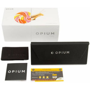 Opium OP-1540-C04 Black Frame With Polarized Blue Gradient Glass Women's Cat Eye Sunglasses